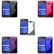 SAMSUNG GALAXY ACE 4 S-LINE SILICONE GEL COVER CASE PLUS FREE SCREEN PROTECTOR