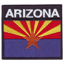 ARIZONA BADGE FLAG EMBROIDERED  PATCH