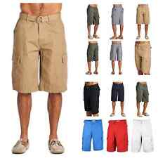 One Tough Brand Men's Cargo Shorts Belted Casual Hiking Workout Jogger Camping