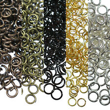 25-500 Split Jump Rings Open Connector Jewelry Finding 4/5/6/8/10/12/14/20mm DIY