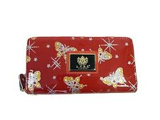 LYDC Womens Ladies Designer Patent Butterfly RED Purse Clutch Wallet P01
