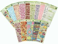 K&Company Rub-ons or Stickers -Alphabet/Flock/Glitter/Layered Chipboard - CHOOSE