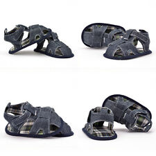 Infant Baby boy Girl Jean crib shoes sandals shoes size 0-6 6-12 12-18 months