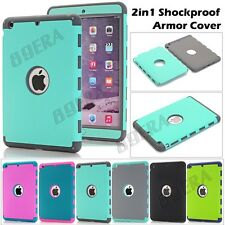 Shockproof Heavy Duty Hybrid Silicone Tough Armor Case Shell For iPad mini 1 2 3