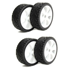 4PCS 17mm Hex Black 1:8 Off-Road RC Car Buggy Tyres RC Wheels Rims and Tires