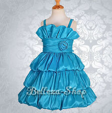 Tiered Bubble Dress Flower Girl Wedding Pageant Party Size 2 3 4 5 6 7 8 9 FG141