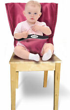 JOBYBABIES BABY HIGHCHAIR HARNESS PORTABLE TRAVEL HIGH CHAIR NEW FABRIC