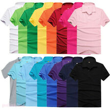 Mens Multicolor Lapel POLO Tops Shirt Short Sleeve Solid Tee T-shirt Size M-3XL