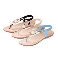 Beauty Lady Bohemia Slippers Flip Flops Flat Sandals Beach Thong Shoes Summer