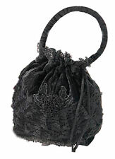 Gothic Medieval Bag Purse Victorian Velvet Lace brown black red green