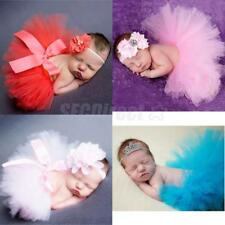 Infant Baby Girls Newborn Tulle Tutu Skirt Costume + Headband Set Photo Props