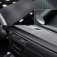 "3D DIY 12""x50"" 30x127cm Texture CARBON Fiber Wrap Vinyl Decal Car Sticker"