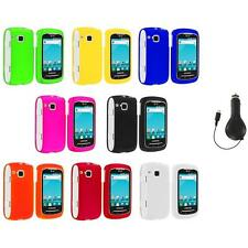 Color Hard Snap-On Skin Case Cover+RET Charger for Samsung Doubletime I857 Phone
