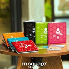 M Square Card Holder Cover Credit Ticket Wallet Case ID Organizer Travel 32Slots