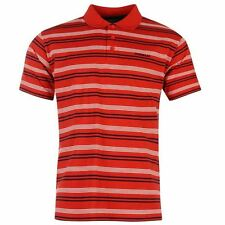 Donnay Childrens Stripe Polo Shirt T-Shirt Short Sleeves Button Neck Boys