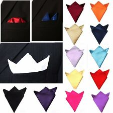 Wedding Party Prom Men Stylish Italian Satin Pocket Square Hanky Handkerchief