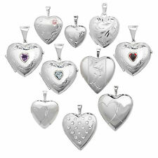 Sterling Silver 925 Heart Locket Pendant Necklace