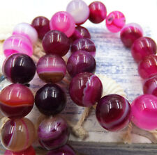 Wholesale Natural Gemstone Round Spacer Loose Beads 8-12mm Red Stripe Agate
