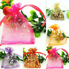 Hot Useful 100Pcs Candy Organza Bags Jewellery Wedding Packaging Beads Bags Gift