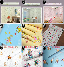 Cartoon Animals Wallpaper Roll Childrens Kids Boys Girls Baby Nursery Room Decor