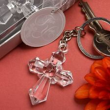 6 X Sparklingly Cross Keyring Baptism Christening Confirmation Wedding Favours