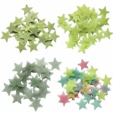 100PCS Baby Kids Bedroom Glow In The Dark Stars Stickers Decal Home Wall Ceiling