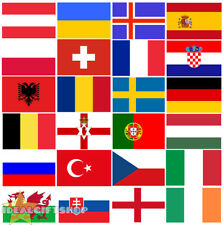 EURO COUNTRY BUNTING 33,100,200,400FT LARGE DECORATION 24 EUROPEAN NATIONAL FLAG