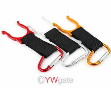 Wholesale10pcs Carabiner Belt Clip Key Chain with Water Bottle Hook Clamp Holder