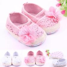 Cute Flower Embellished Toddler Baby First Walker Shoes Baby Girl Crib Shoes
