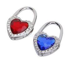 Heart Rhinestone Folding Bag Purse Handbag Hook Hanger Holder Red Blue PICK