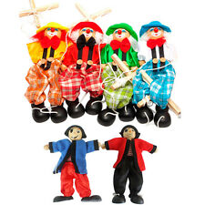 Pull String Puppet Pirate/Clown Wooden Marionette Toy Joint Doll Activity Party