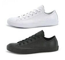 CONVERSE CT ALL STAR OX LEATHER - WHITE or BLACK - UNISEX TRAINERS - BRAND NEW