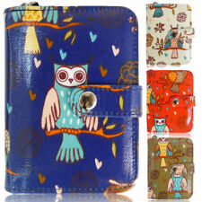 Fashion Ladies Faux Leather Multi Owl Small Coin Purse Womens Wallet Card Holder