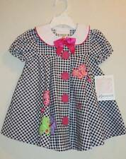 Bonnie Baby Black Gingham Butterfly Dress Set  12 18 24 Months