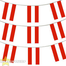 AUSTRIA EURO FOOTBALL 2016 COUNTRY BUNTING 33FT LARGE FLAG DECORATION 20 FLAGS