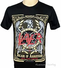 SLAYER HEAVY METAL ROCK PUNK BAND MEN MUSIC T-SHIRT SIZE M DECADE OF AGGRESSION