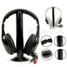 High Quality 5 in 1 Hi-Fi Wireless Headphone Headset Earphone for TV DVD MP3 PC