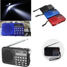 LCD Stereo Speaker Mp3 FM Radio Musik Player USB Micro SD TF Portable RE