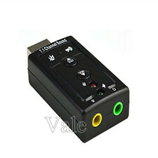 1/2/5 USB 2.0 Virtual 7.1 Channel Audio Sound Card Adapter 3D For PC Desktop Lot