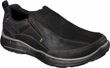 64504 Black Skechers Shoe Men Gel Memory Foam Dress Casual Comfort Slipon Loafer