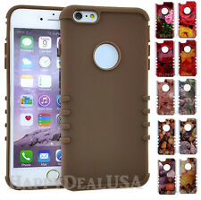 Crystal KoolKase Rocker Slim Soft & Hard Cover Case For Apple iPhone - Brown