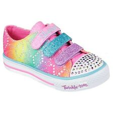 Girl's Youth SKECHERS TWINKLE TOES SHUFFLES 10612 LIGHTS Sneakers Shoes New