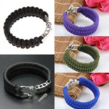 Outdoor Survival Paracord Bracelet Parachute Cord Wristband Emergency Rope
