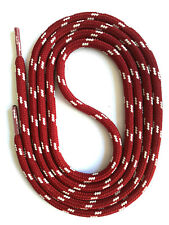 SECURITY SHOELACES -  DARK RED / GREY- Laces For Work Shoes & Hiking Shoes
