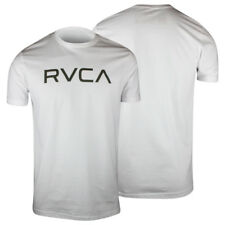RVCA Big RVCA T-Shirt (White/Olive Green) - mma surf skate