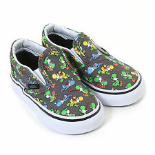 Vans Toddler Nintendo Classic Slip On Yoshi Canvas Trainer Pewter