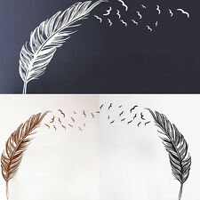 Pure Wall Sticker Birds Feather Bedroom Home Decal Mural Removable Art Decor DIY