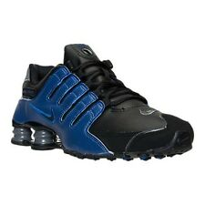 Nike Shox NZ Mens Size Running Shoes Black Blue Sneakers Display 378341 041