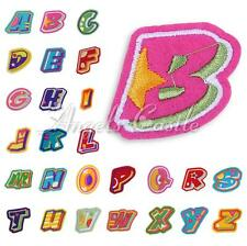 Numbers Letters A-Z Embroidered Applique Cloth Iron On Sewing Patch Accessory