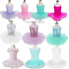 Girl Gymnastics Ballet Dress Kids Leotard Tutu Skirt Dancewear Ballerina Costume